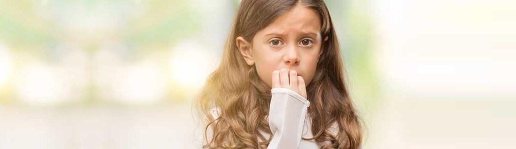 Criança com ansiedade